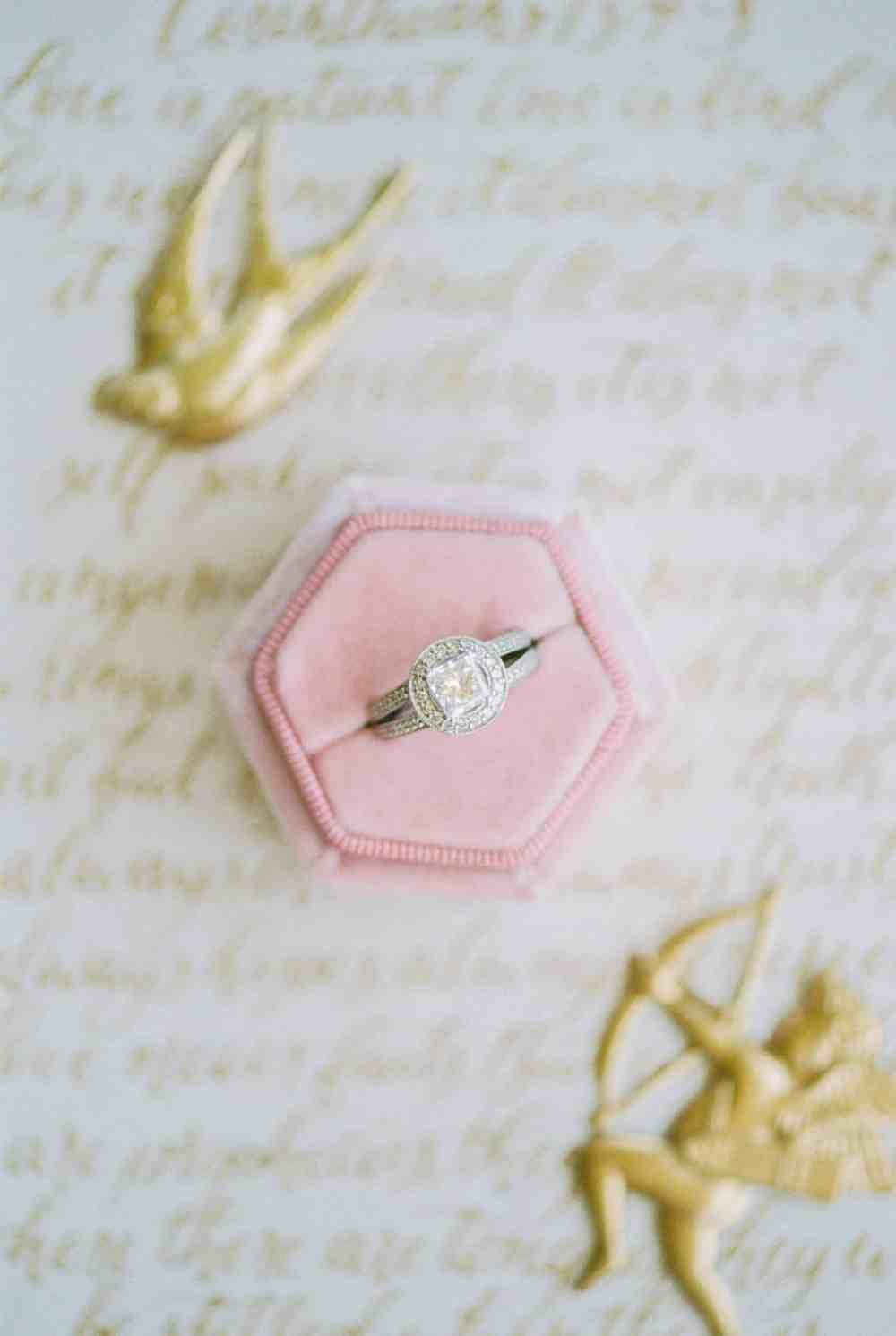 Ring on customer calligraphy vows