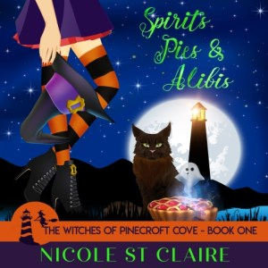 Spirits Pies and Alibis by Nicole St Claire, Narrated by Stephanie Murphy - audiobook