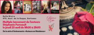 Invitation au multiple lancement de l'auteure Stéphanie Perreault