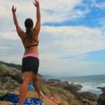 cropped Yoga at Ocean