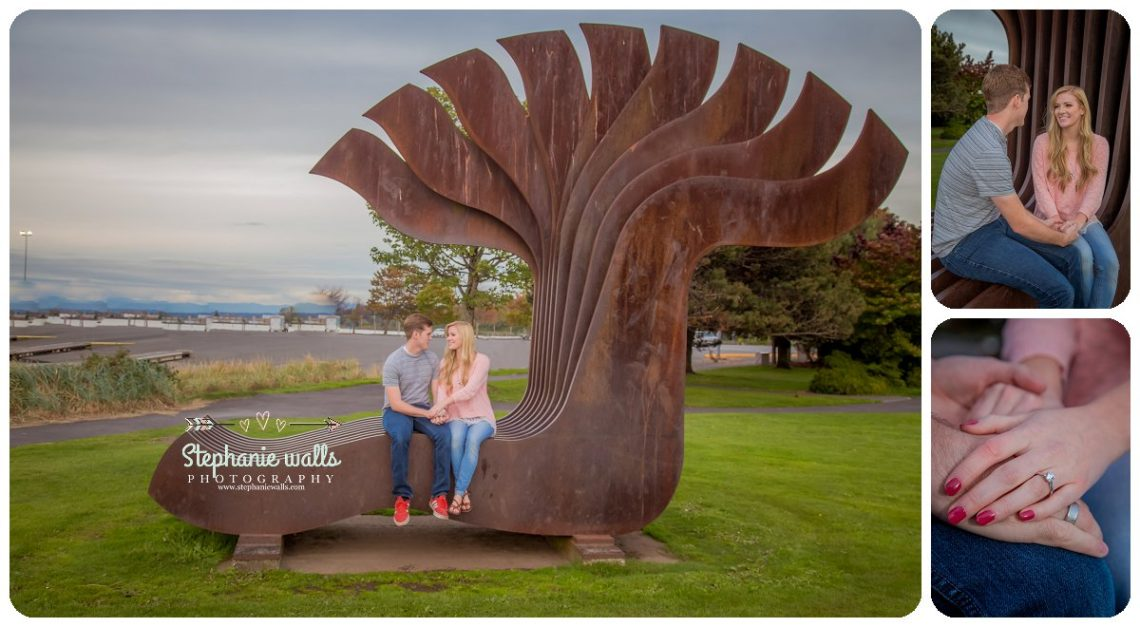 2016 12 21 0003 Windy Engagement | Everett Marina Dock Engagement Session