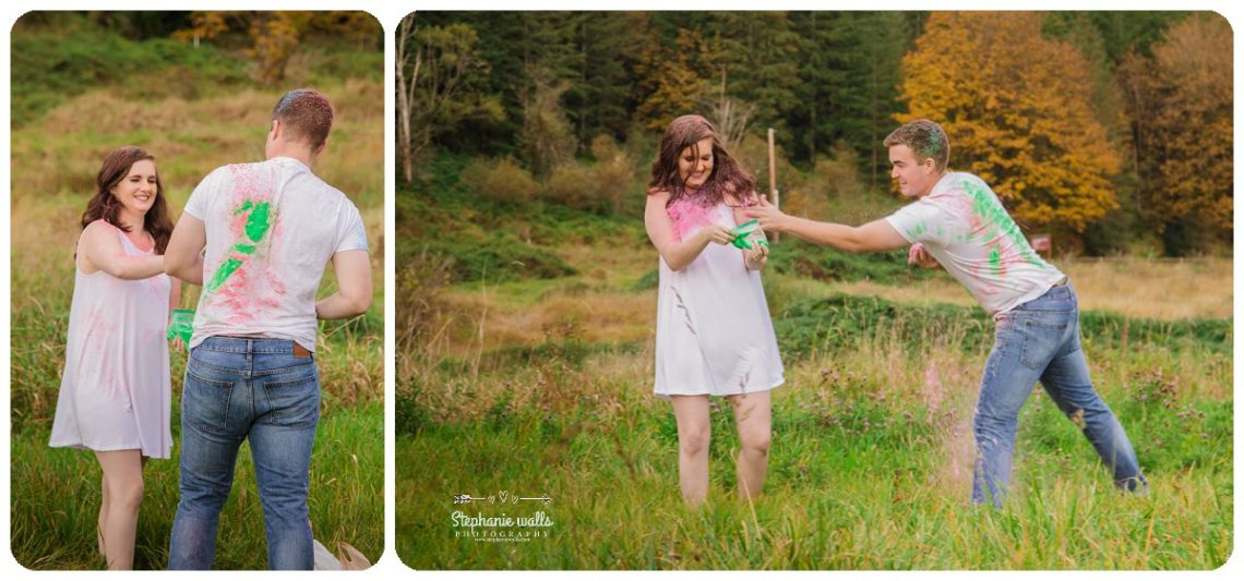 2017 01 19 1323 Engagement Color (Holi) Powder Fun | Nakashima Heritage Barn Arlington, Wa