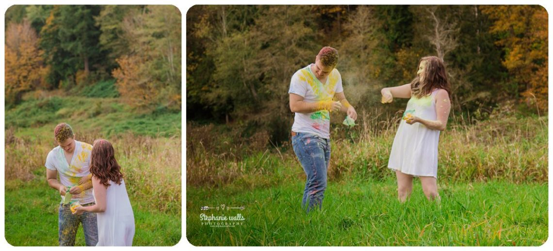 2017 01 19 1324 Engagement Color (Holi) Powder Fun | Nakashima Heritage Barn Arlington, Wa