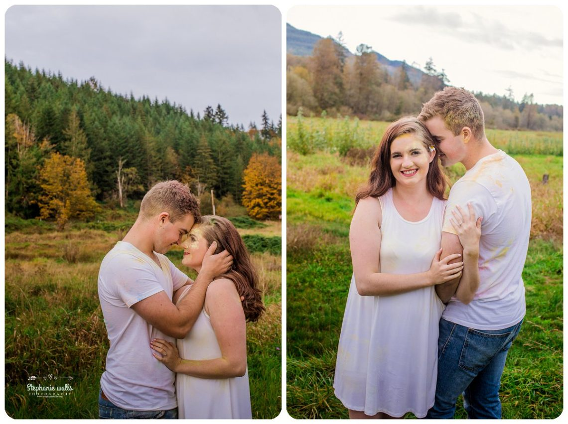 2017 01 19 1331 Engagement Color (Holi) Powder Fun | Nakashima Heritage Barn Arlington, Wa