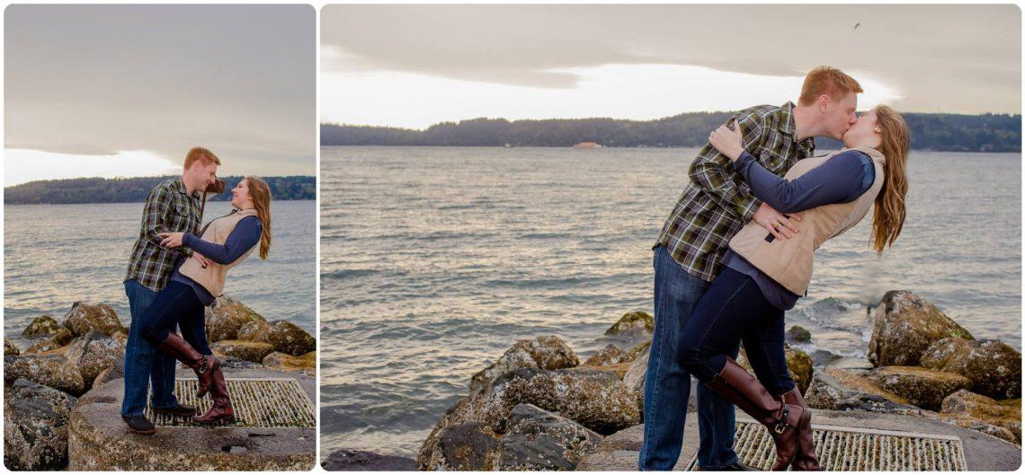 Sarah Brian 27 Rainy PNW Engagement | Mukilteo Lighthouse park | Mukilteo, WA