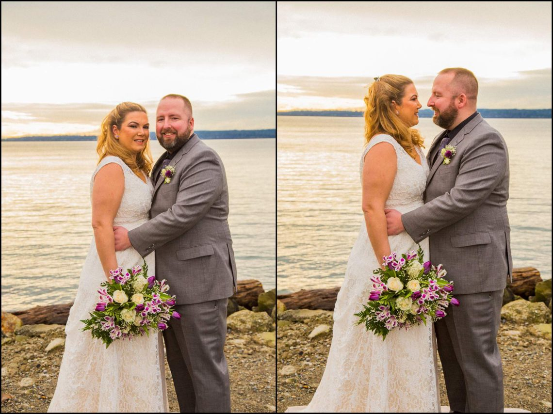 Buck Wedding 11 WATCHING SUNSETS TOGETHER |  BEACH ELOPEMENT WEDDING EDMONDS, WA