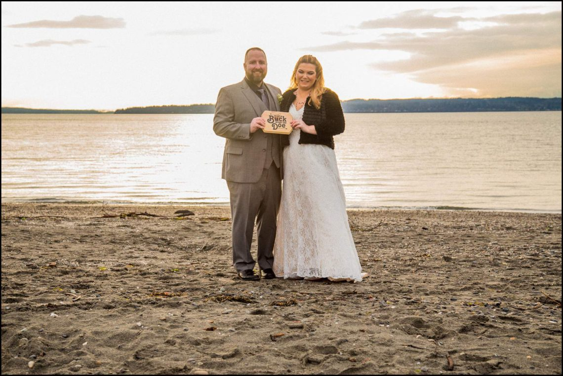 Buck Wedding 135 WATCHING SUNSETS TOGETHER |  BEACH ELOPEMENT WEDDING EDMONDS, WA