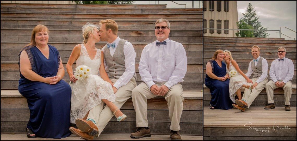 Hall Elopement032 Candace & Matthews Sweet Everett Court House Wedding Ceremony | Everett, Wa
