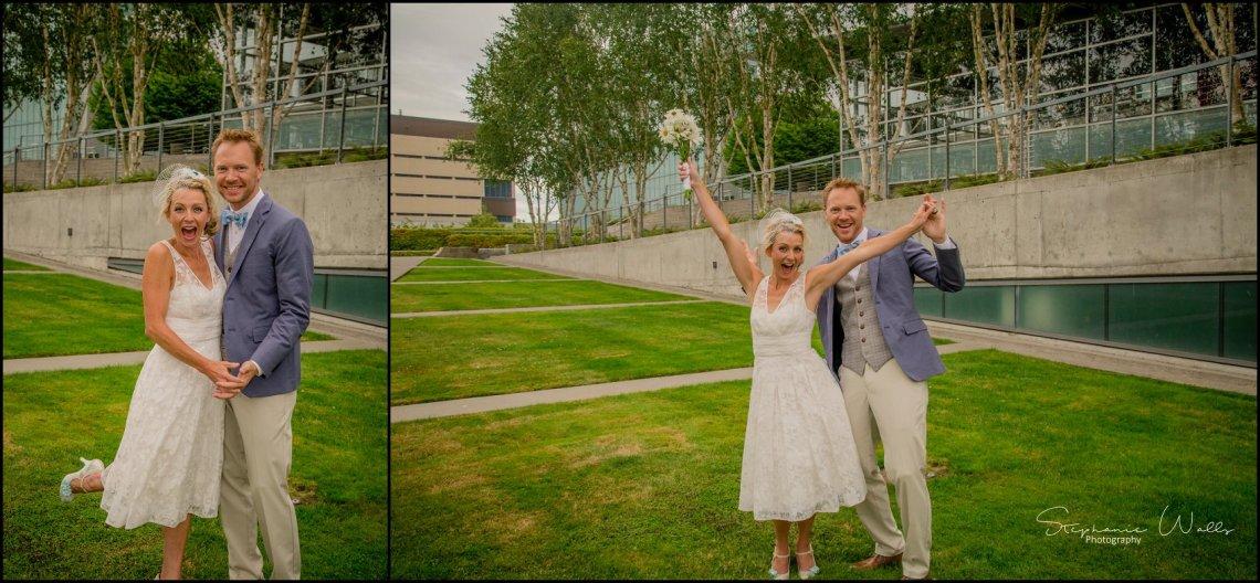Hall Elopement129 Candace & Matthews Sweet Everett Court House Wedding Ceremony | Everett, Wa
