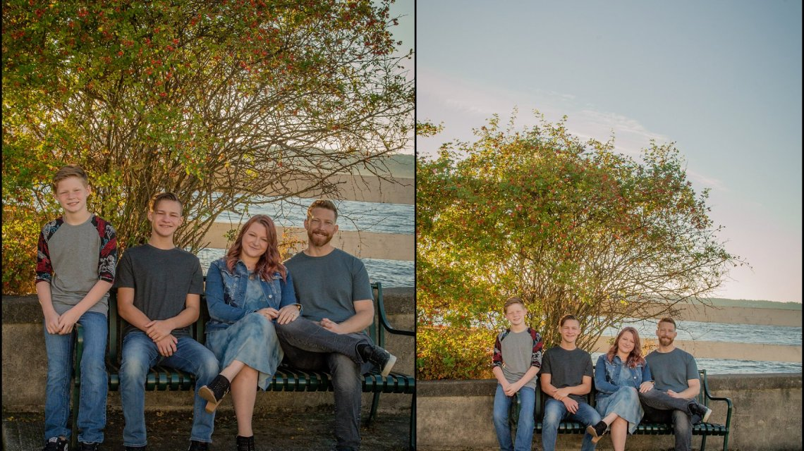 Family session at sunset mukilteo beach