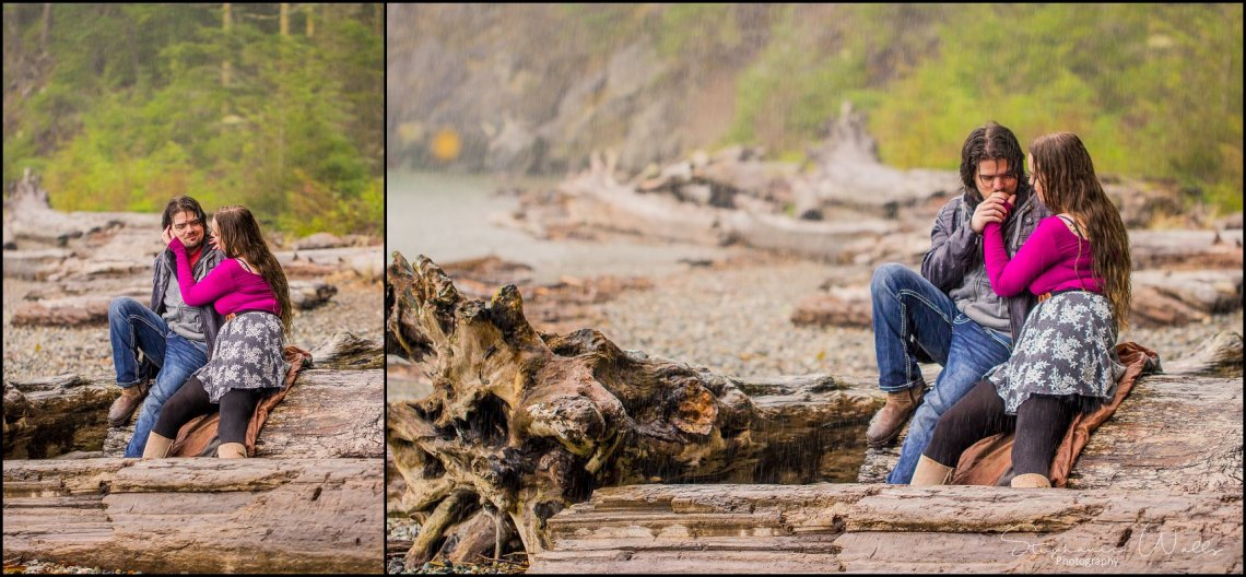 Foss 056 Rainy Engagement Session | Deception Pass Park Engagement Session | Anacortes, Wa Wedding Photographer
