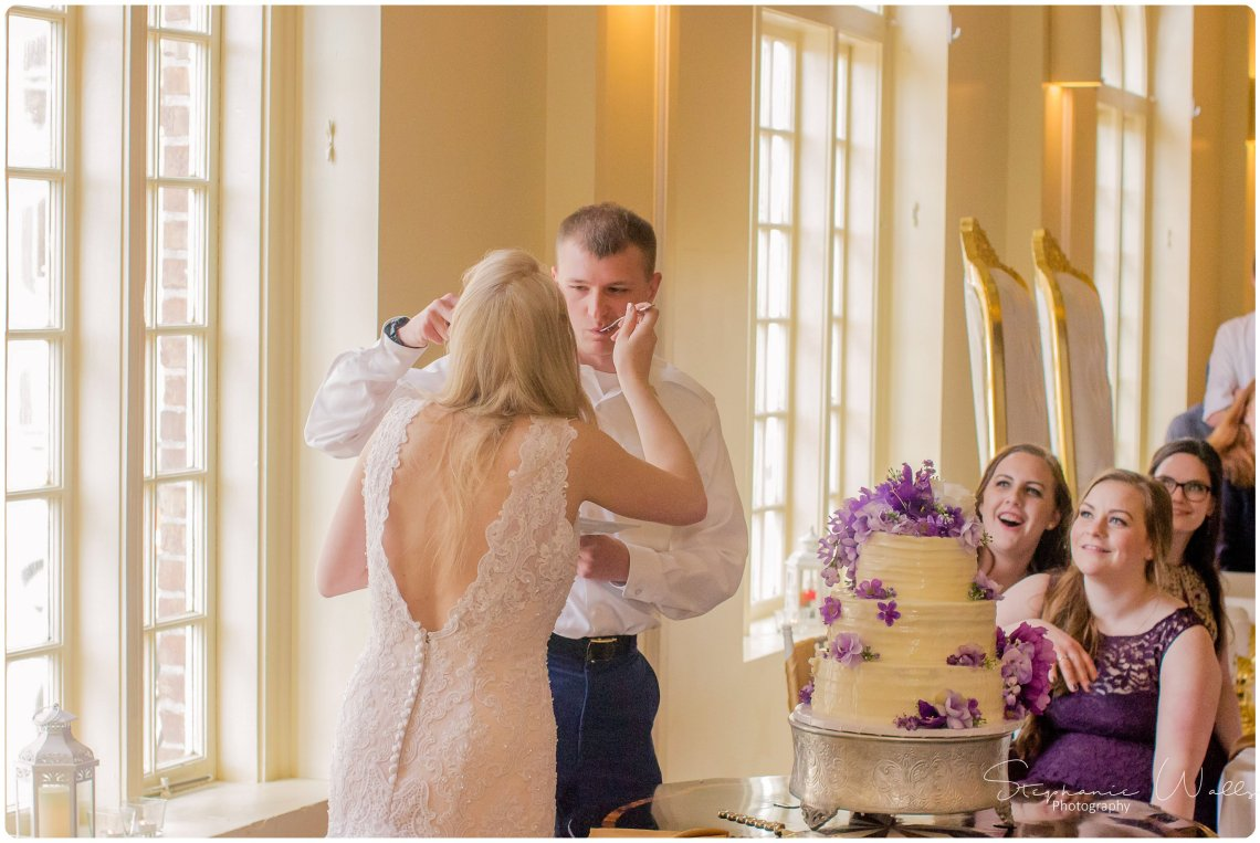 Sears Dinner Toast Cake 155 The Hero & The Starlet | Monte Cristo Ballroom | Stephanie Walls Photography Weddings