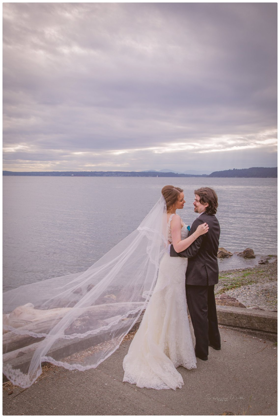 Bride Groom 127 2 Sky full of Colors | Saltys on Alki, Seattle   Our Lady Guadalupe | Stephanie Walls Seattle Wedding Photographer