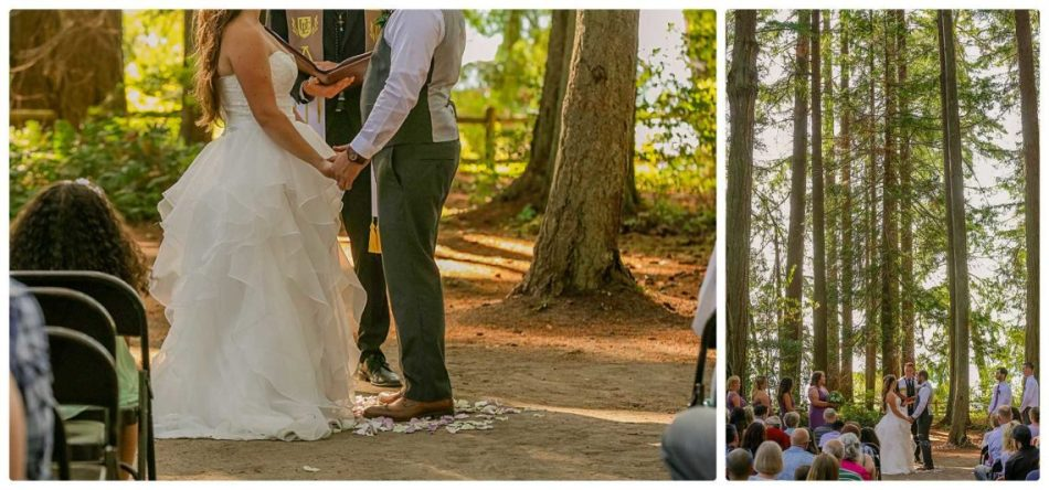 Ceremony 168 950x444 Skys the Limit | Kitsap Memorial State Park | Kitsap Wedding Photographer