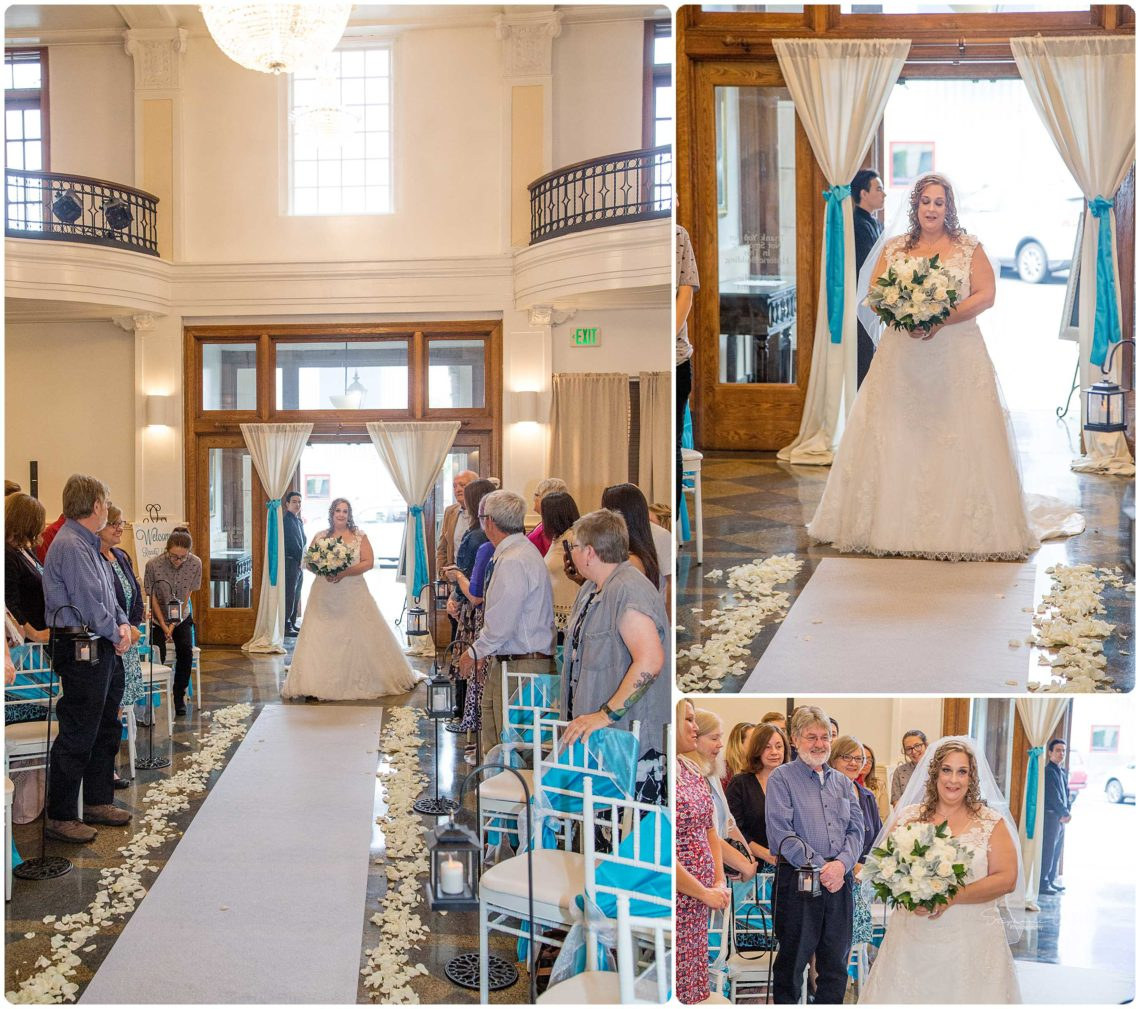 Ceremony 058 Black & Teal | Monte Cristo Ballroom Wedding | Everett Wedding Photographer