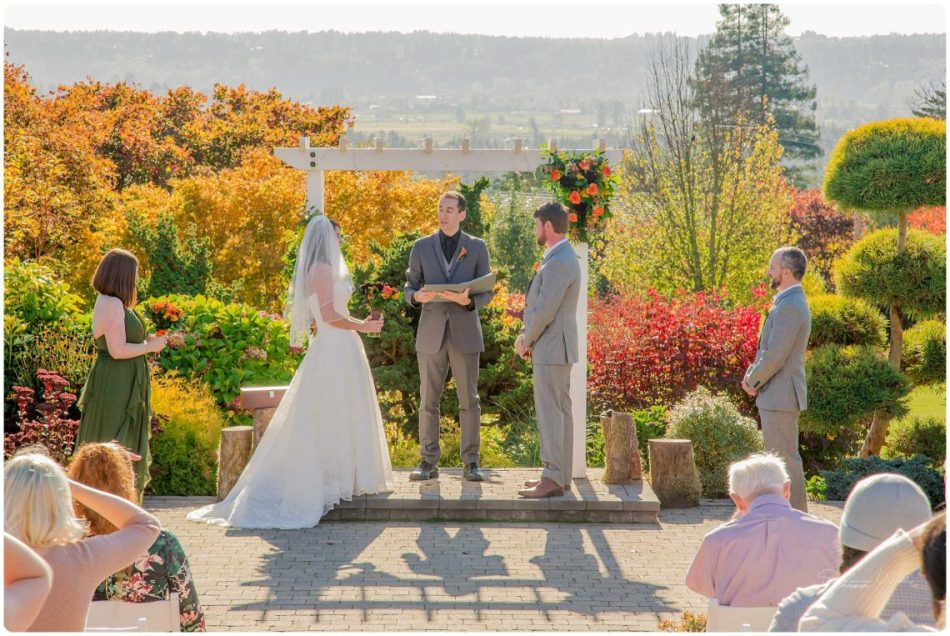 Mingling Ceremony 139 950x636 Autumn Love | Olympic View Estates Wedding | Lake Stevens Wedding Photographer