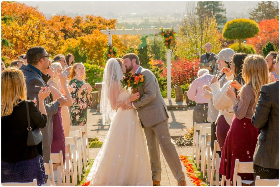 Mingling Ceremony 190 950x636 Autumn Love | Olympic View Estates Wedding | Lake Stevens Wedding Photographer