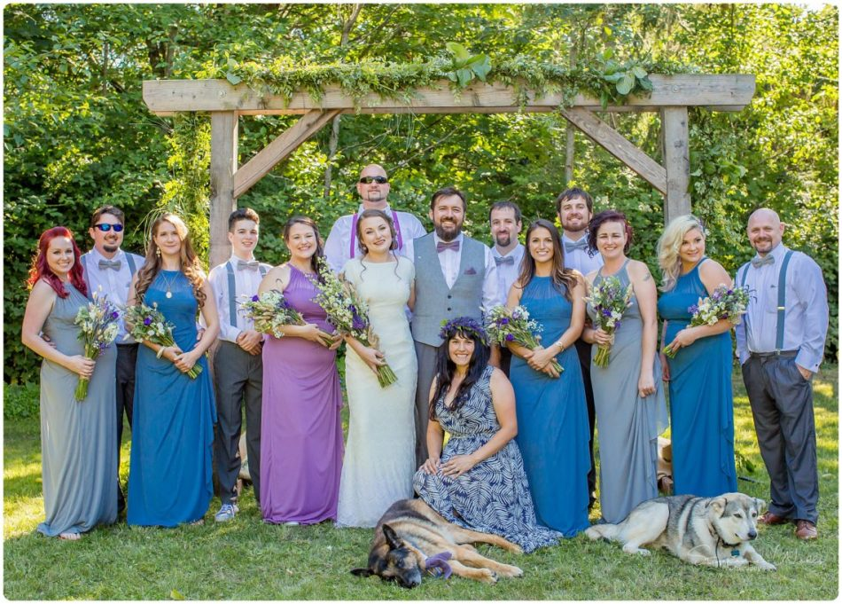 %name Camano Island Backyard wedding with Sarah and Casey