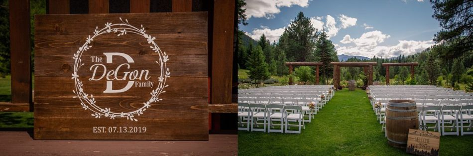 %name Pine River Ranch Wedding of Claire and Jeff.