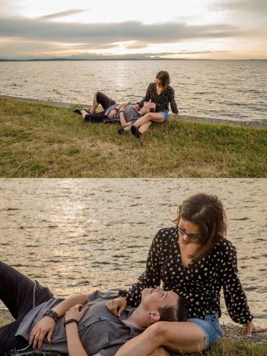 %name Alki Beach Engagement session with Melba and Melissa