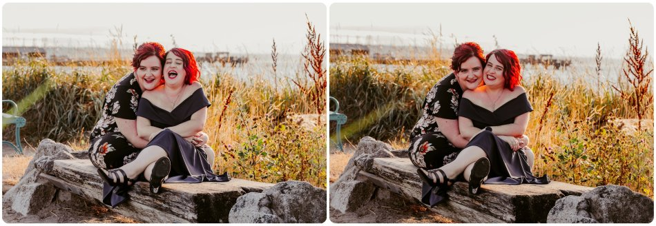 Stephanie Walls Photography 1218 950x328 Edmonds Beach Park Engagement Session with Kristy and Kat