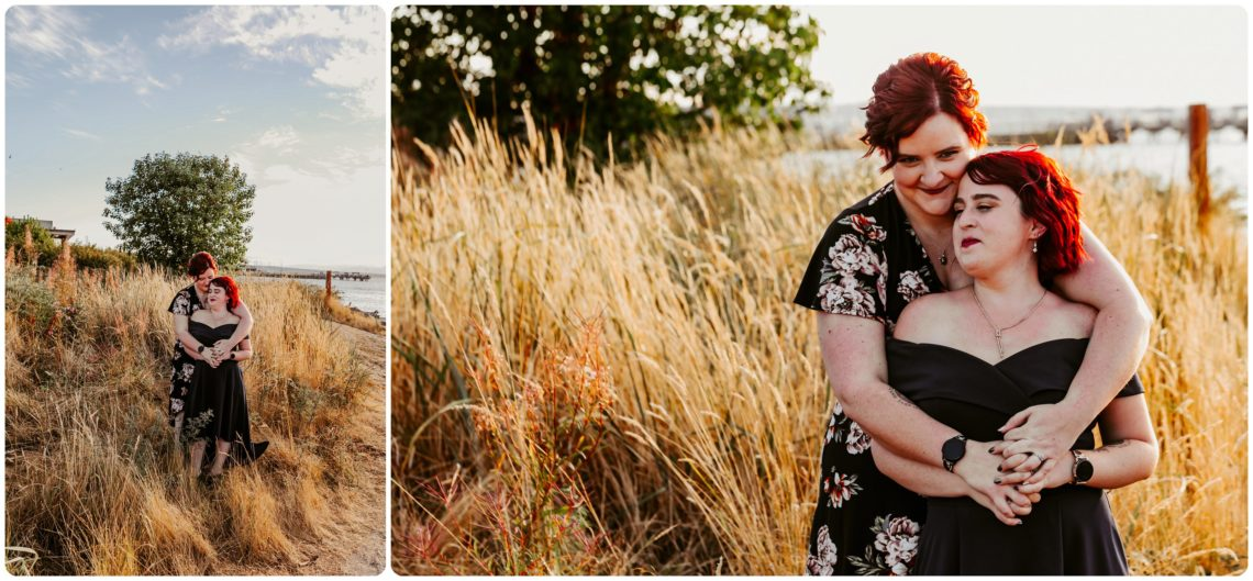 Stephanie Walls Photography 1223 scaled Edmonds Beach Park Engagement Session with Kristy and Kat