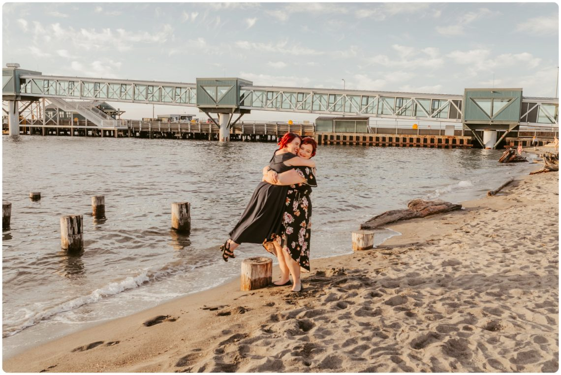 Stephanie Walls Photography 1230 scaled Edmonds Beach Park Engagement Session with Kristy and Kat