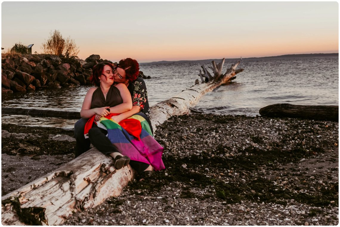 Stephanie Walls Photography 1244 scaled Edmonds Beach Park Engagement Session with Kristy and Kat