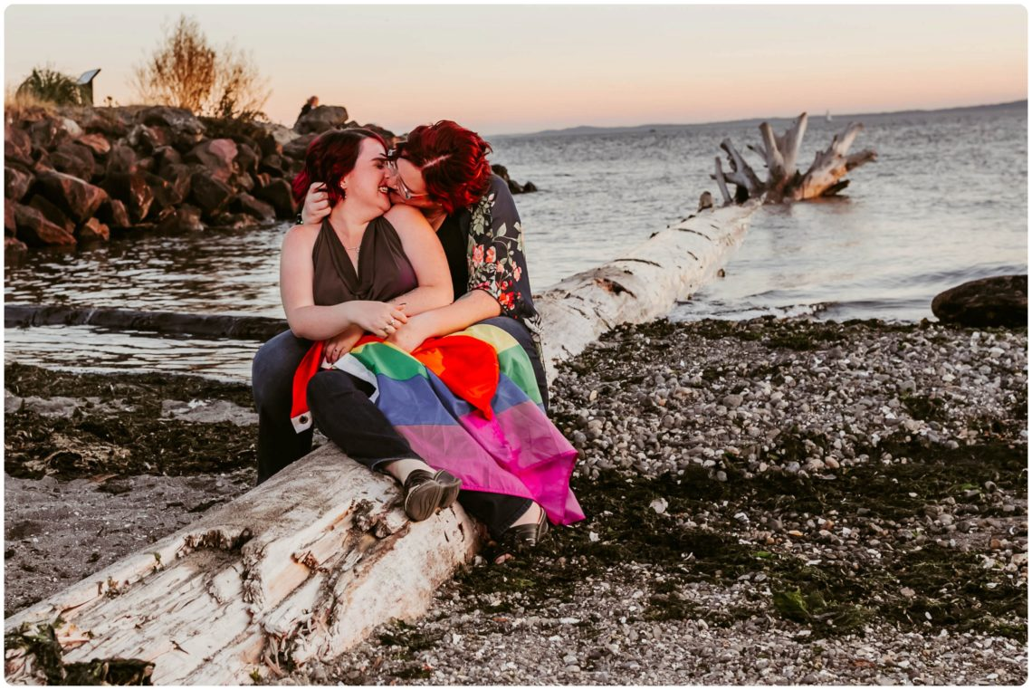 Stephanie Walls Photography 1246 scaled Edmonds Beach Park Engagement Session with Kristy and Kat