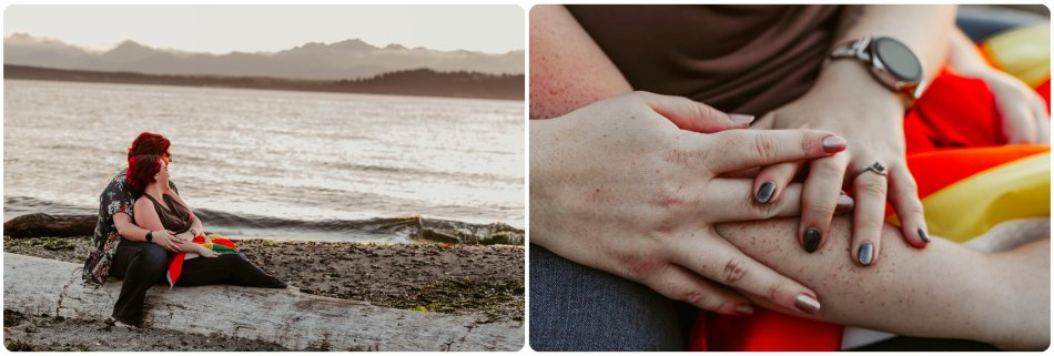 Stephanie Walls Photography 1250 950x321 Edmonds Beach Park Engagement Session with Kristy and Kat