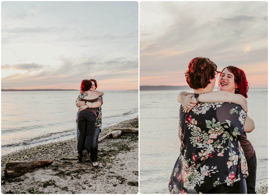 Stephanie Walls Photography 1251 scaled Edmonds Beach Park Engagement Session with Kristy and Kat