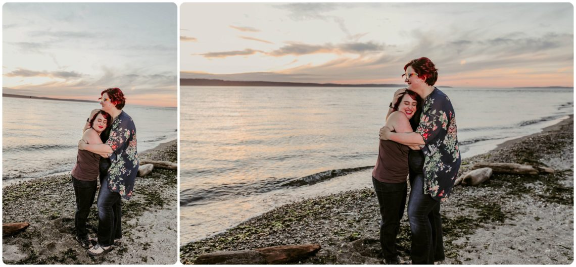Stephanie Walls Photography 1252 scaled Edmonds Beach Park Engagement Session with Kristy and Kat
