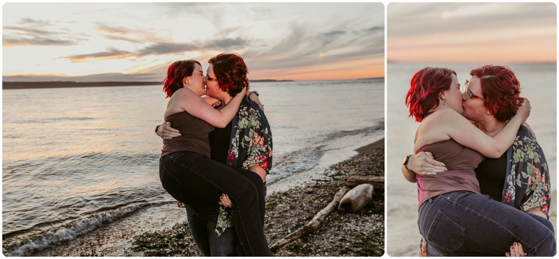 Stephanie Walls Photography 1257 scaled Edmonds Beach Park Engagement Session with Kristy and Kat