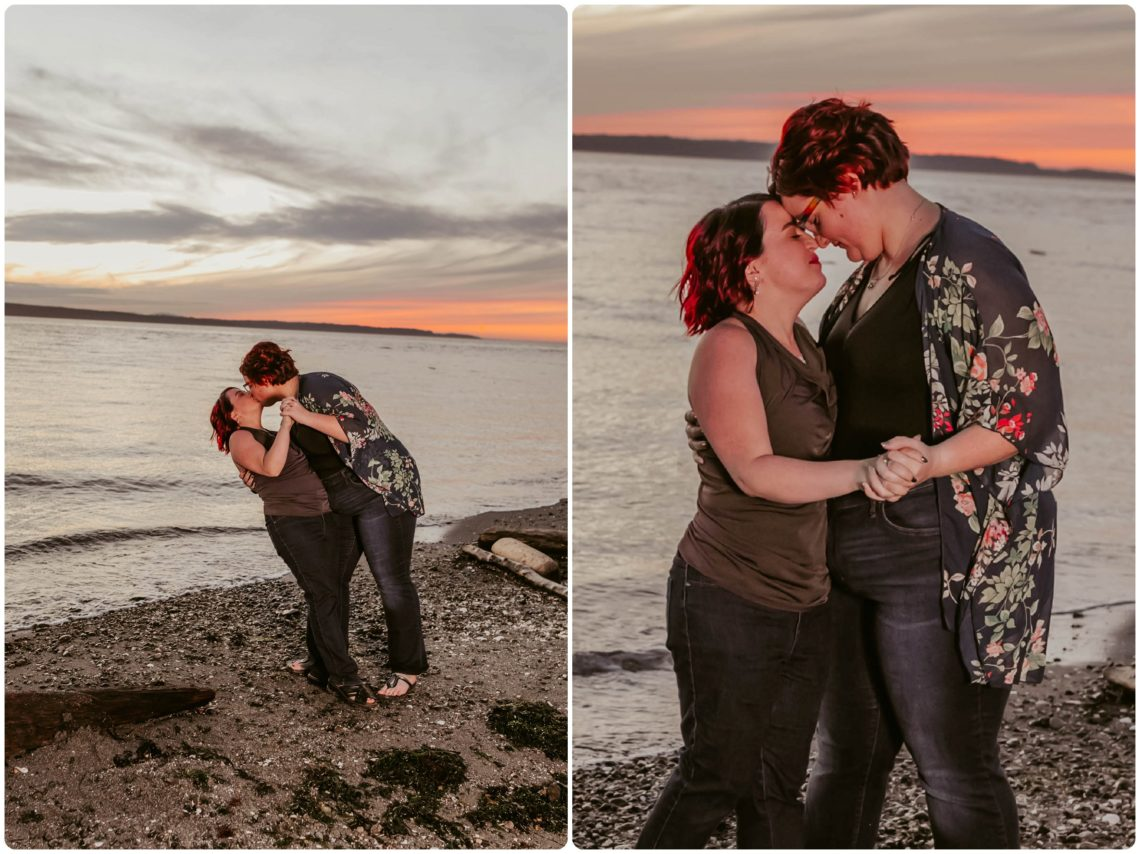 Stephanie Walls Photography 1267 scaled Edmonds Beach Park Engagement Session with Kristy and Kat