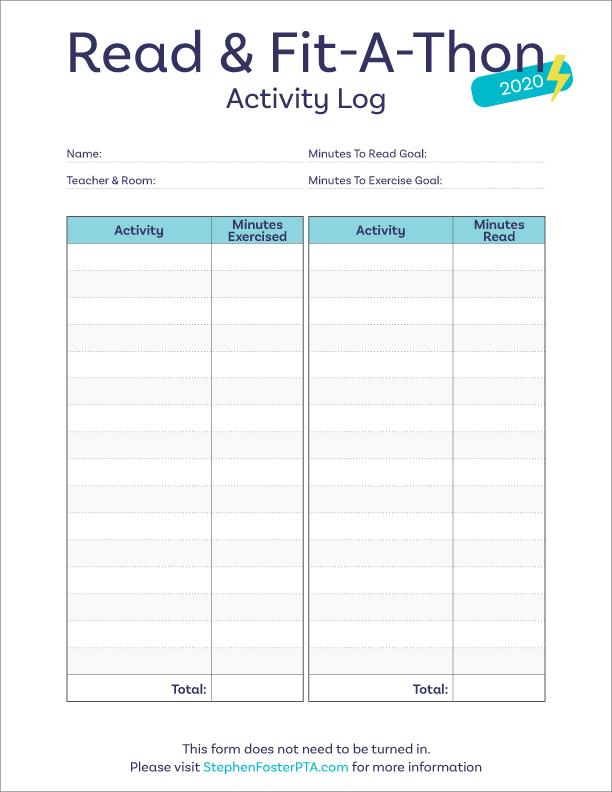 Read & Fit-A-Thon - Activity Log