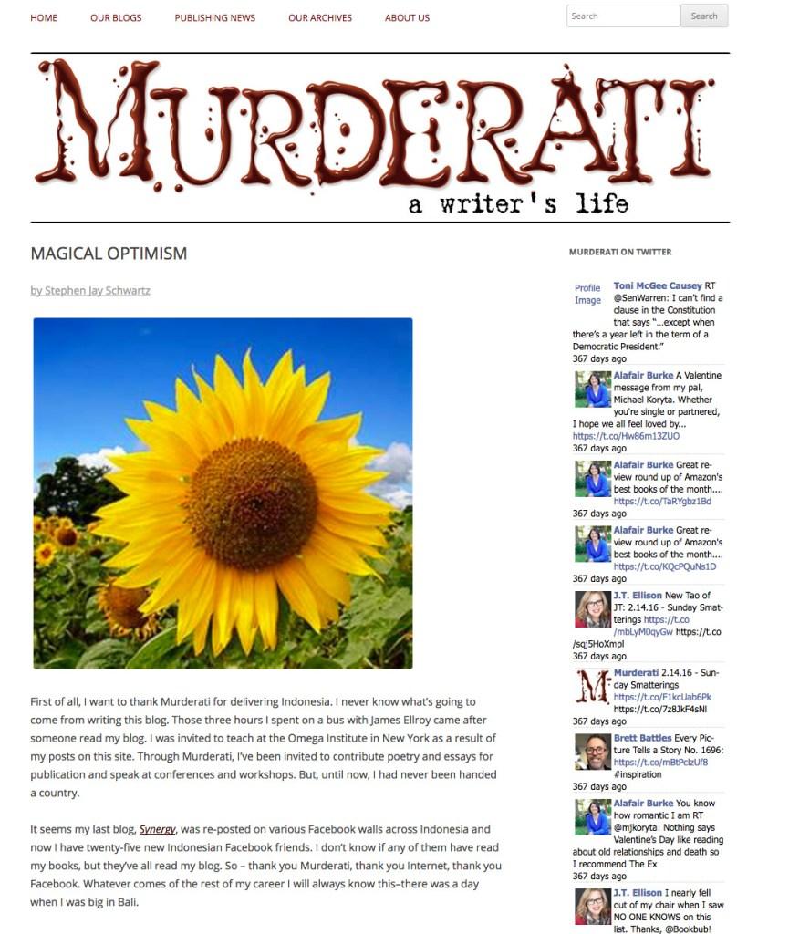 magical optimism com magical optimism murderati blog