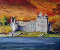 Kilchurn Castle, Loch Awe, Argyll and Bute by Scottish Landscape painter Stephen Murray