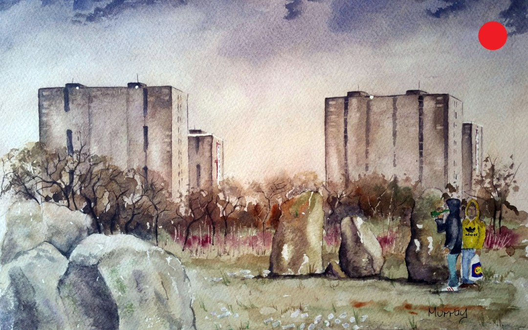 Tower Block Stones, Glasgow, Scotland.