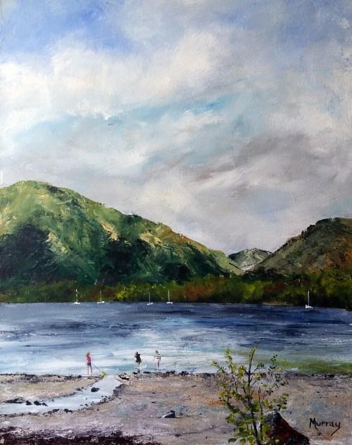 Milarrocy Bay, Loch Lomond Stephen Murray art