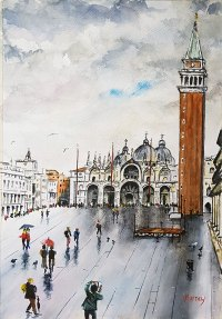 Piazza San Marco Venice Italy Watercolour