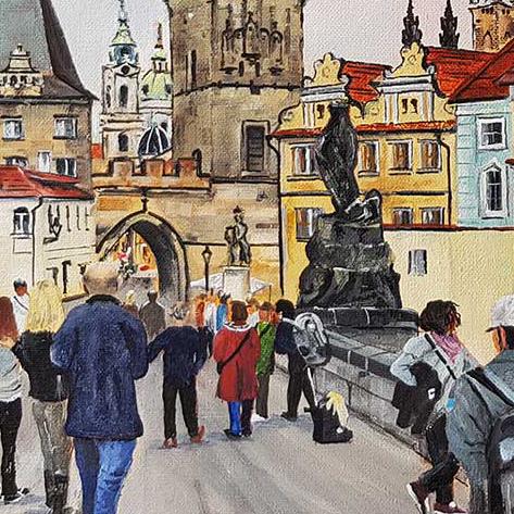 On Charles Bridge, Prague, Czech Republic