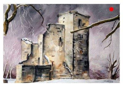 Crookston Castle, Glasgow (Mounted)