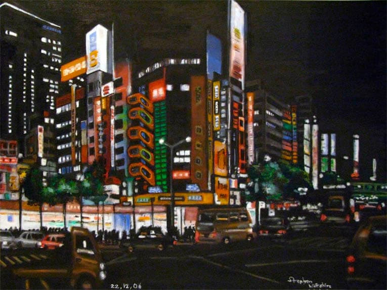 Electric City, Tokyo - drawings and paintings by Stephen Wiltshire MBE