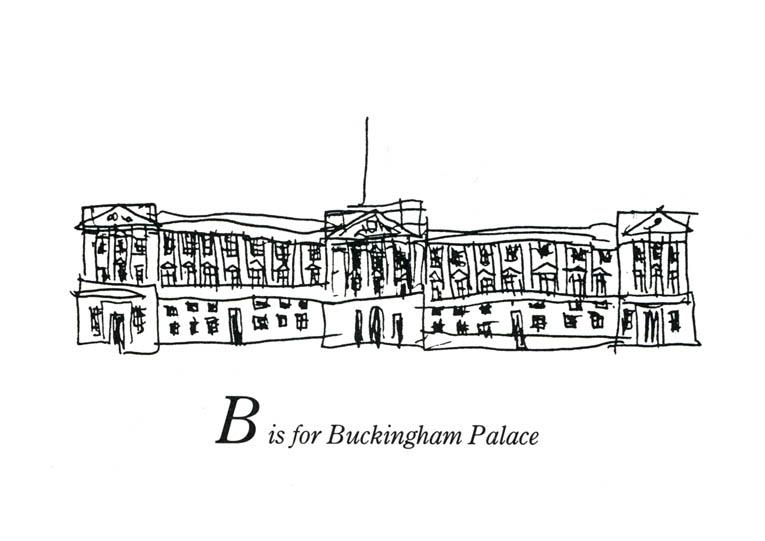 London Alphabet B For Buckingham Palace Original