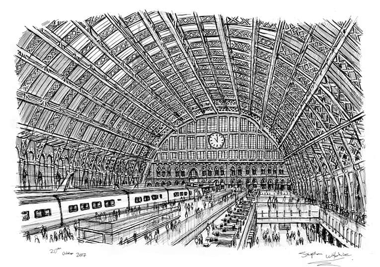St. Pancras Train Station by Steven Wiltshire