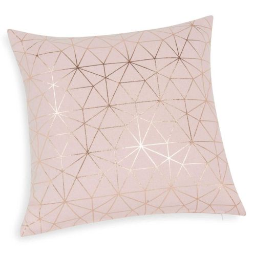 blush and gold cushions