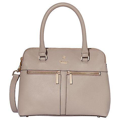 Modalu Pippa Classic Leather Mini Grab Bag, Mink