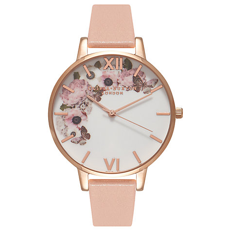 Olivia Burton OB15WG10 Women's Enchanted Garden Watch, Rose :White