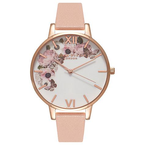 Olivia Burton OB15WG10 Women's Enchanted Garden Watch, Rose :White