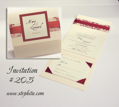 205 5 49 Wedding Invitation